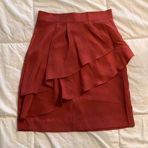 2/$20 Salmon mini ruffle skirt